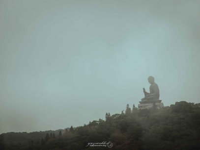 The Big Buddha from the car